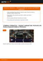 Ako vymeniť predné stierače na VW Passat 3C B6 Variant – návod na výmenu