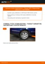 Podrobný PDF tutorial k výmene VW PASSAT Variant (3C5) Spojovacia tyč
