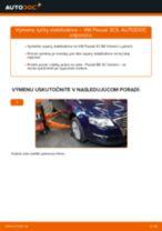 Ako vymeniť predné vľavo Vzpera stabilizátora na VW PASSAT Variant (3C5) - manuály online