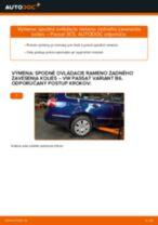 Podrobný PDF tutorial k výmene VW PASSAT Variant (3C5) Rameno Zavesenia Kolies