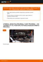 Ako vymeniť predné jednotka prużenia, tlmič prużenia na VW Touran 1T1 1T2 – návod na výmenu
