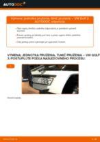 Ako vymeniť zadné jednotka prużenia, tlmič prużenia na VW Golf 3 – návod na výmenu