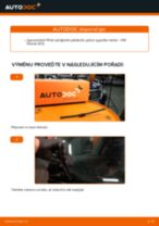 Jak vyměnit zadní stírací lišty na VW Passat 3C B6 Variant – návod k výměně