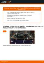 Jak vyměnit přední stírací lišty na VW Passat 3C B6 Variant – návod k výměně