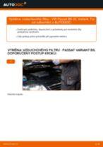 Jak vyměnit vzduchový filtr na VW Passat 3C B6 Variant – návod k výměně