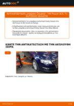 Πώς να αλλάξετε μπαρακι ζαμφορ εμπρός σε VW Passat 3C B6 Variant - Οδηγίες αντικατάστασης