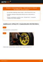 Navodila po korakih za popravilo Renault Clio 2 Van
