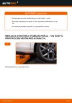 Kako zamenjati avtodel končnik stabilizatorja spredaj na avtu VW Golf 6 – vodnik menjave