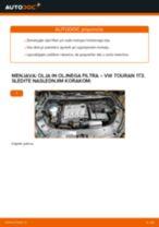 Kako zamenjati avtodel motorna olja in filter na avtu VW Touran 1T3 – vodnik menjave