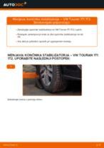 Kako zamenjati avtodel končnik stabilizatorja spredaj na avtu VW Touran 1T1 1T2 – vodnik menjave