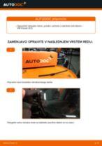 Kako zamenjati avtodel brisalce zadaj na avtu VW Passat 3C B6 Variant – vodnik menjave