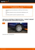 Kako zamenjati avtodel končnik stabilizatorja zadaj na avtu VW Passat 3C B6 Variant – vodnik menjave