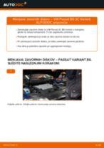 Kako zamenjati avtodel zavorni diski zadaj na avtu VW Passat 3C B6 Variant – vodnik menjave