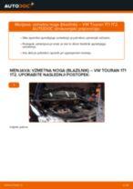 Kako zamenjati avtodel vzmetna noga (blazilnik) spredaj na avtu VW Touran 1T1 1T2 – vodnik menjave