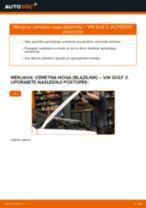 Kako zamenjati avtodel vzmetna noga (blazilnik) spredaj na avtu VW Golf 3 – vodnik menjave