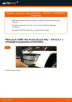 Kako zamenjati avtodel vzmetna noga (blazilnik) zadaj na avtu VW Golf 3 – vodnik menjave