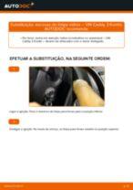 Como mudar e ajustar Escovas do limpa parabrisas VW CADDY: tutorial pdf