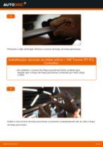 Como mudar escovas do limpa vidros da parte traseira em VW Touran 1T1 1T2 - guia de substituição