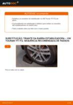 Como mudar tirante da barra estabilizadora da parte traseira em VW Touran 1T1 1T2 - guia de substituição