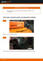 Como mudar escovas do limpa vidros da parte traseira em VW Passat 3C B6 Variant - guia de substituição