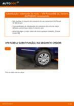 Como mudar rolamento da roda da parte traseira em VW Passat 3C B6 Variant - guia de substituição