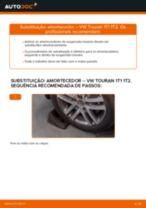 Como mudar amortecedores da parte traseira em VW Touran 1T1 1T2 - guia de substituição