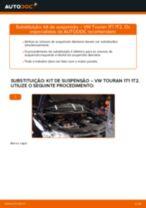 Como mudar kit de suspensão da parte dianteira em VW Touran 1T1 1T2 - guia de substituição