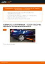 Como mudar amortecedores da parte traseira em VW Passat 3C B6 Variant - guia de substituição