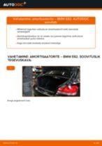 Samm-sammuline PDF-juhend 1600 GT Kupee Amort asendamise kohta