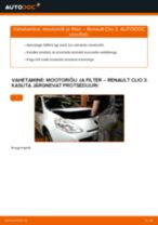 Õlifilter vahetus: pdf juhend RENAULT CLIO