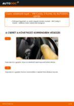 Hátsó ablaktörlő lapát-csere VW Caddy 3 Kombi gépkocsin – Útmutató