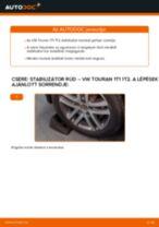 Hátsó stabilizátor rúd-csere VW Touran 1T1 1T2 gépkocsin – Útmutató