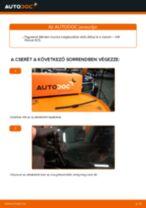 Hátsó ablaktörlő lapát-csere VW Passat 3C B6 Variant gépkocsin – Útmutató