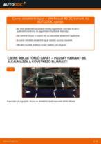 Elülső ablaktörlő lapát-csere VW Passat 3C B6 Variant gépkocsin – Útmutató