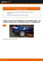 Hátsó felfüggesztés alsó vezérlőkar-csere VW Passat 3C B6 Variant gépkocsin – Útmutató