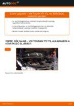 Elülső gólyaláb-csere VW Touran 1T1 1T2 gépkocsin – Útmutató