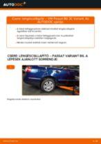 Hogyan cseréje és állítsuk be Gólyaláb VW PASSAT: pdf útmutató
