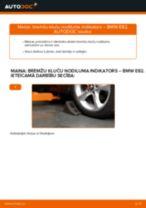 Kā nomainīt: priekšas bremžu kluču nodiluma indikators BMW E82 - nomaiņas ceļvedis