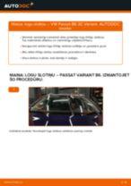 Kā nomainīt: priekšas logu slotiņas VW Passat 3C B6 Variant - nomaiņas ceļvedis
