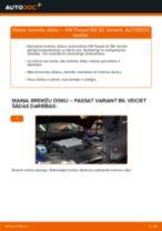 Kā nomainīt: aizmugures bremžu diskus VW Passat 3C B6 Variant - nomaiņas ceļvedis