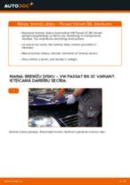 Kā nomainīt: priekšas bremžu diskus VW Passat 3C B6 Variant - nomaiņas ceļvedis
