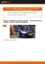 Kā nomainīt: priekšējā apakšējā svira VW Passat 3C B6 Variant - nomaiņas ceļvedis