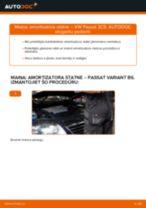 Kā nomainīt: priekšas amortizatora statni VW Passat 3C B6 Variant - nomaiņas ceļvedis