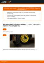 Montavimo Remonto komplektas, atrama / vairo trauklė RENAULT CLIO III (BR0/1, CR0/1) - žingsnis po žingsnio instrukcijos