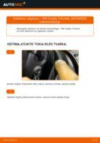 Kaip pakeisti VW Caddy 3 Kombi valytuvų: galas - keitimo instrukcija