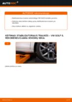 Automechanikų rekomendacijos VW Golf 6 2.0 TDI Rato guolis keitimui