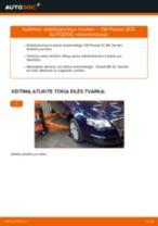 Pakeisti Pasukimo trauklė VW PASSAT: instrukcija
