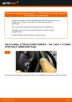 Cum se înlocuiesc și se ajustează Lamela stergator VW CADDY: manual pdf