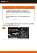 Cum să schimbați: discuri de frână din spate la VW Passat 3C B6 Variant   Ghid de înlocuire