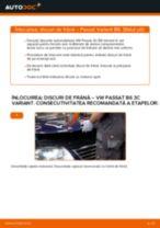 Cum să schimbați: discuri de frână din față la VW Passat 3C B6 Variant   Ghid de înlocuire